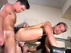 Amiable gym instructor has fierce cheerful coition with his favorite partner