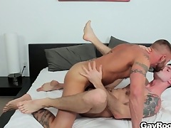 Troy Daniels gets his nuisance torn up abroad from his horny tattooed masseur