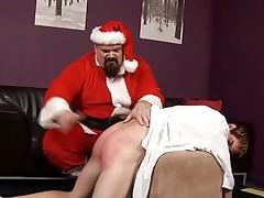 ST00S18 Santa Spanks a Wild Boy