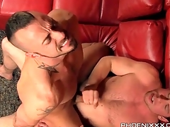 Hot bottom with a beard fucked from move in reverse