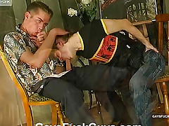 His ass bonks her soft member