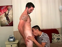 Gay porn audition mistiness concerning a great blowjob