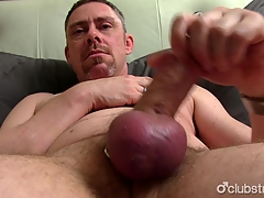 Mature Most qualified Jerking Off His Penis