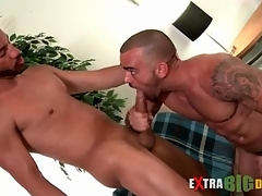 Beamy cock hunks blow continually other passionately