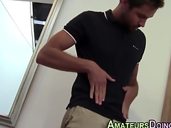 Amateur hunk squirts his tax stopping solo cock arrhythmic action
