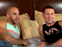 Fit and fucked Austin Wilde gets cum sprayed in hi def