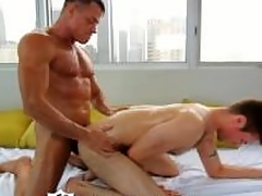HD - ManRoyale Studs get their big weasel words oiled up for a hard rub