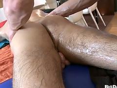 Hardcore anal sageness pertinent after massage, enjoy that video