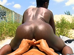 Take a moment to watch at hos nasty black guy being impaled by white cock