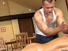 Unfathomable anal massage for tired elated stud