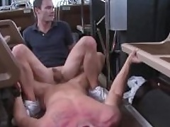 Straighty gets cumshot