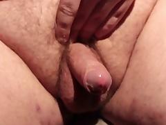 Horny fat slut masturbating his small unearth and cumming