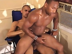 Frowning gay jerks wanting his meat to the fullest his ass is acquiring hammered