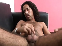 Hairy hunk Diacritic strokes his long hollow out until it bursts with pleasure