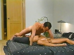 Sexy blonde ray has a oversexed guy sucking his dick and banging his ass